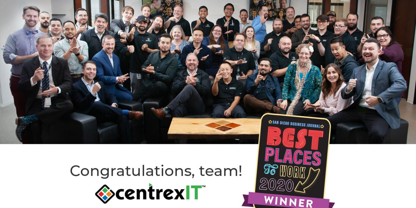centrexIT one of 100 Best Places to Work 2020